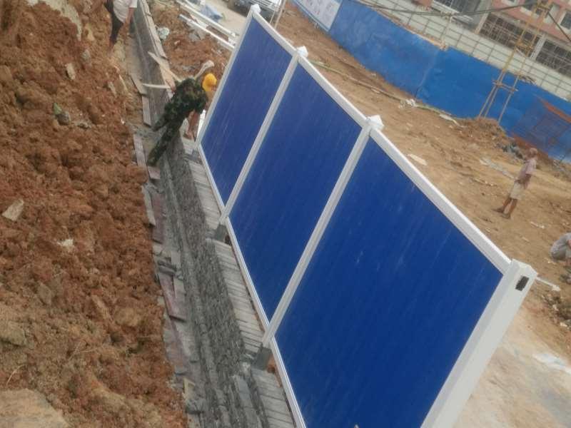 pvc材质的围挡工地围挡板的价格